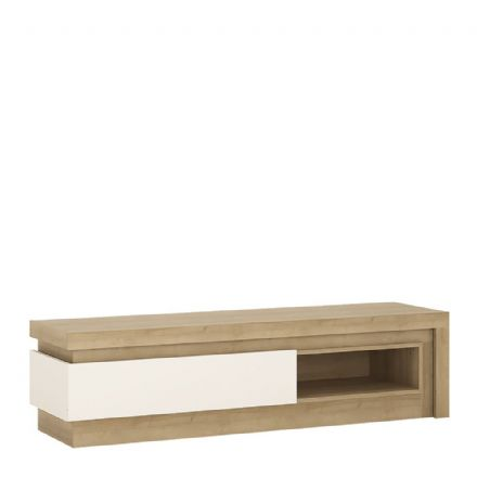 1 drawer TV cabinet with open shelf (including LED lighting)